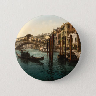 Rialto Bridge I, Venice, Italy 6 Cm Round Badge