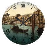 Rialto Bridge I, Venice, Italy Clocks