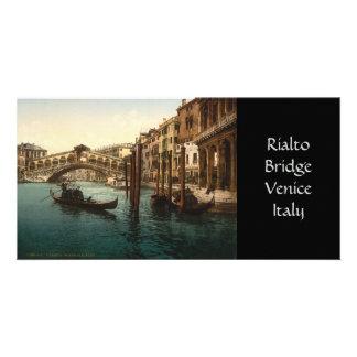 Rialto Bridge I, Venice, Italy Custom Photo Card