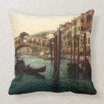 Rialto Bridge I, Venice, Italy Pillow