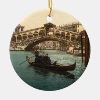 Rialto Bridge I, Venice, Italy Round Ceramic Decoration
