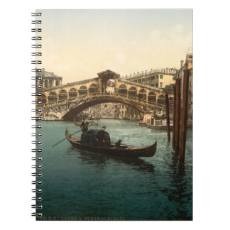 Rialto Bridge I, Venice, Italy Spiral Notebook
