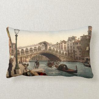 Rialto Bridge II, Venice, Italy Lumbar Pillow