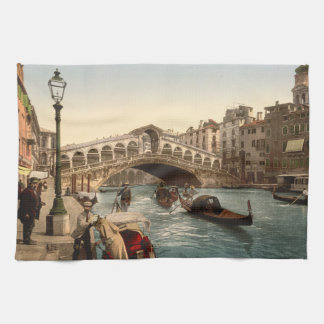 Rialto Bridge II, Venice, Italy Tea Towel