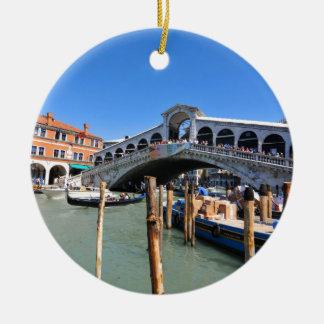 Rialto Bridge in Venice, Italy Christmas Ornament