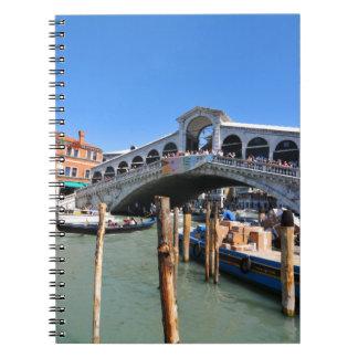 Rialto Bridge in Venice, Italy Spiral Notebook