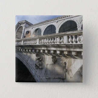 Rialto Bridge over the Grand Canal Venice Italy 15 Cm Square Badge