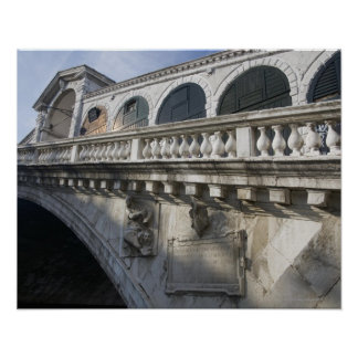Rialto Bridge over the Grand Canal Venice Italy Poster