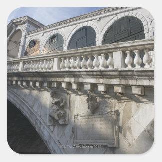 Rialto Bridge over the Grand Canal Venice Italy Square Sticker