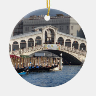 Rialto Bridge Venice Italy Christmas Ornament