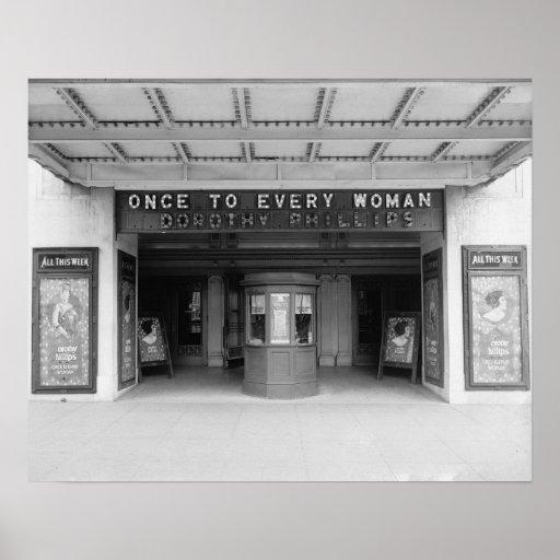 Rialto Movie Theater, 1920 Poster
