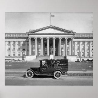 Rialto Theatre Panel Truck: 1920s Poster