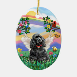 Rianbow Life - Black Cocker Spaniel Christmas Ornament