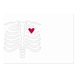 Rib Cage and Heart Pack Of Chubby Business Cards