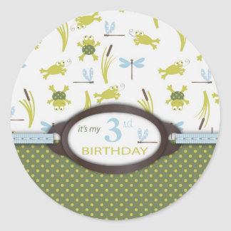 Ribbit Birthday Invite Sticker