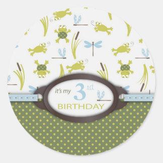 Ribbit Birthday Invite Sticker