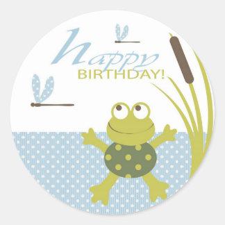 Ribbit Birthday Sticker 2