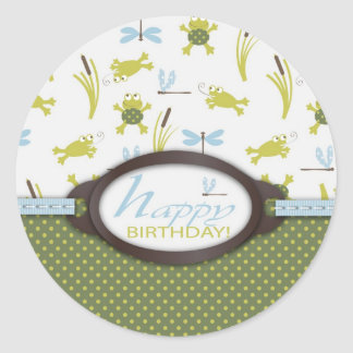 Ribbit Birthday Sticker C