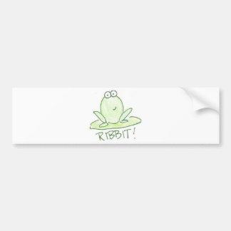 Ribbit! Car Bumper Sticker