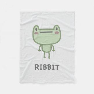 Ribbit Fleece Blanket