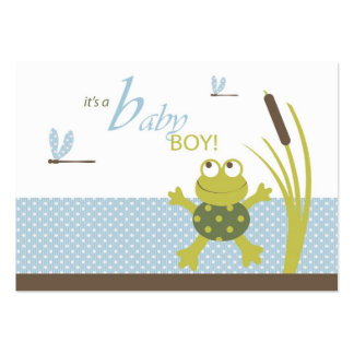 Ribbit Frog and Dragonfly Gift Tags Pack Of Chubby Business Cards
