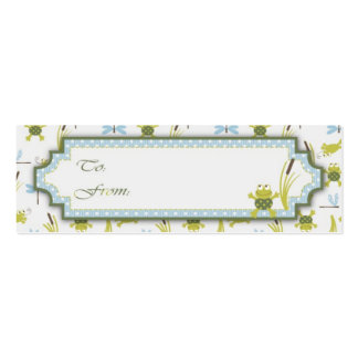 Ribbit Frog and Dragonfly Gift Tags Pack Of Skinny Business Cards