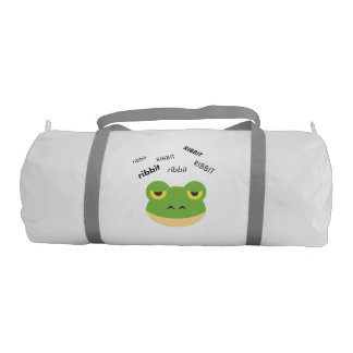 Ribbit Frog Cute Emoji Gym Duffel Bag