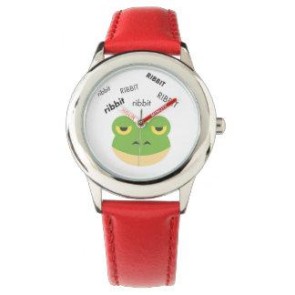 Ribbit Frog Cute Emoji Watch