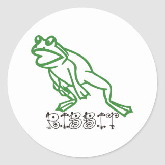 Ribbit Frog Round Sticker