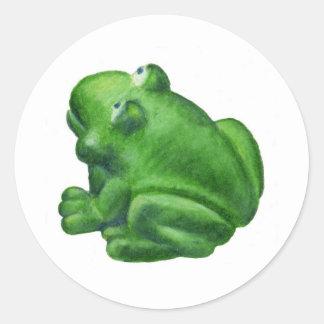 Ribbit Frog Round Sticker