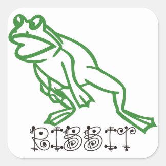 Ribbit Frog Square Sticker