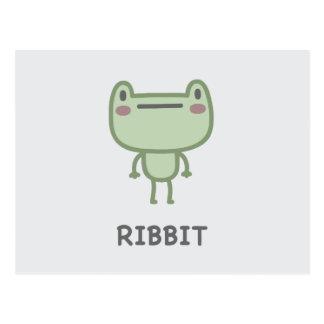 Ribbit Postcard