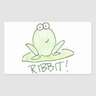 Ribbit! Rectangular Sticker