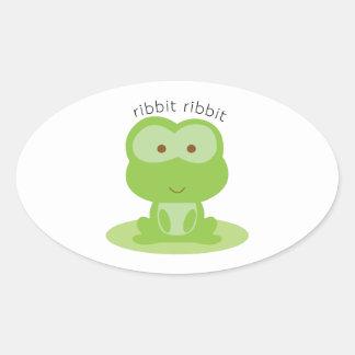 Ribbit Ribbit Oval Sticker