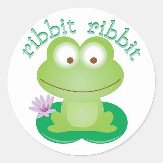 Ribbit Ribbit Round Sticker