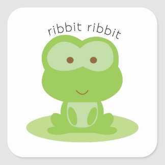 Ribbit Ribbit Square Sticker