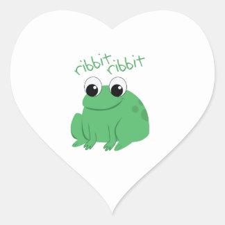 Ribbit Ribbit Heart Stickers