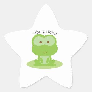 Ribbit Ribbit Star Sticker