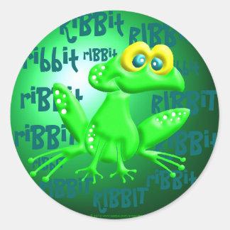 Ribbit! Round Sticker