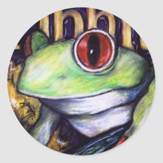 Ribbit Round Sticker