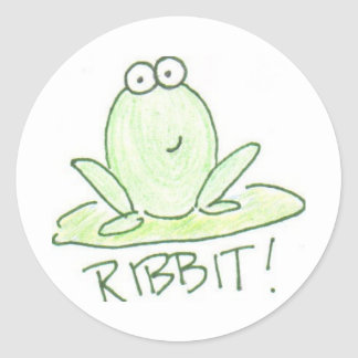 RIBBIT! ROUND STICKER