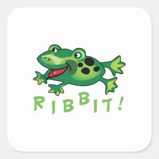Ribbit! Square Sticker
