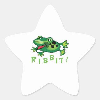 Ribbit! Star Sticker