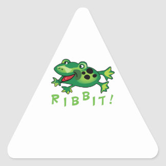 Ribbit! Triangle Sticker