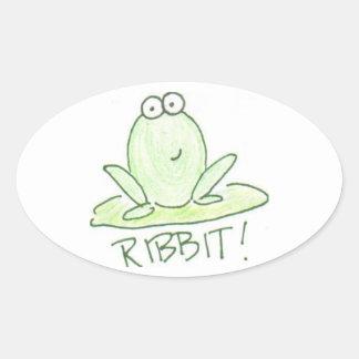 Ribbit! Oval Sticker