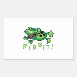 Ribbit! Rectangle Sticker