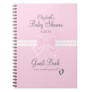 Ribbon and Bow-Baby Shower Guest Book