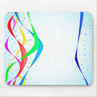 Ribbon and Confetti Party Mouse Pad
