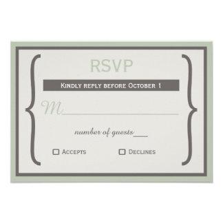 Ribbon Bracket rsvp Custom Invitations