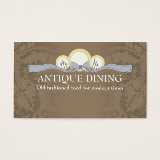 Ribbon dinner plates chef catering business cards
